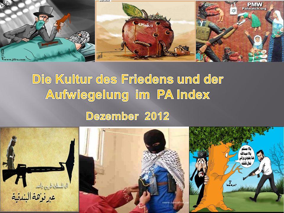Der Index der Friedens- und Aufwiegelungskultur Wichtigste Ergebnisse Der Index liefert einen zu diesem Zweck entwickelten Maßstab, um das Niveau der Aufwiegelung und der Friedenskultur in der PA methodisch zu verfolgen.