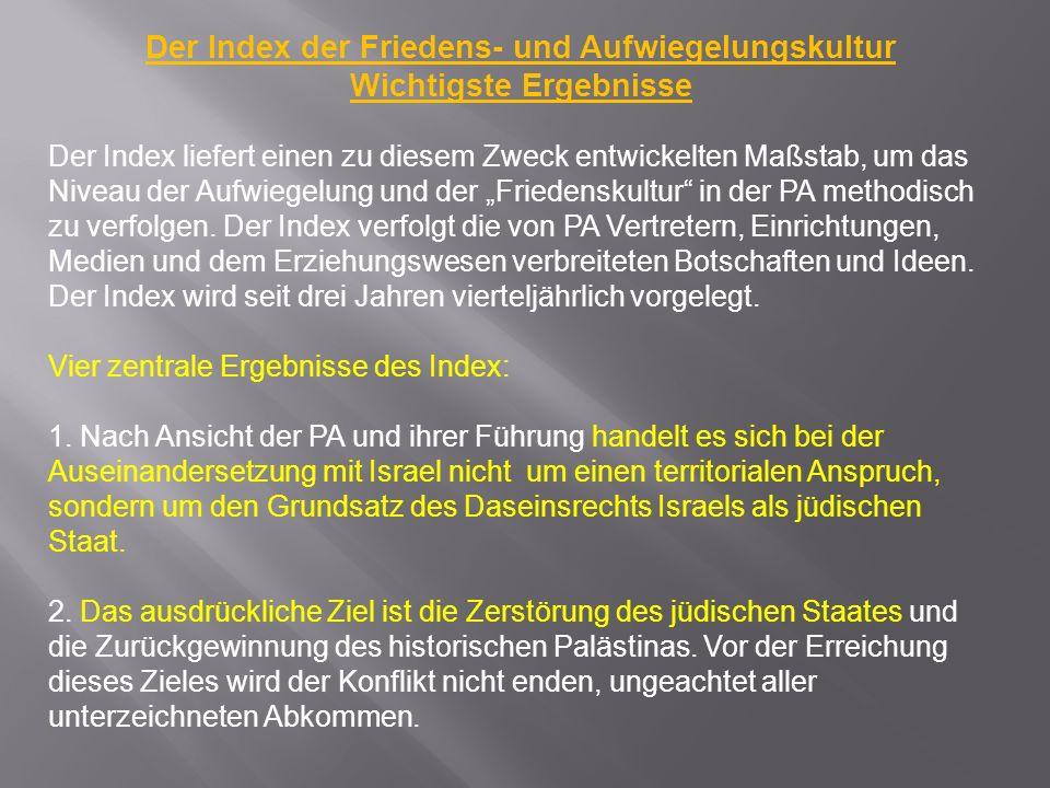 Trotz der Behauptung der Palästinenser, die im Widerspruch mit dem Osloer Abkommen stehenden Artikel 1998 aus der Palätinensischen Charta entfernt zu haben, erscheint der Originaltext der Charta von 1968 noch immer im vollen Wortlaut auf vielen PLO Webseiten, ohne jeglichen Hinweis auf nachträgliche Abänderungen.