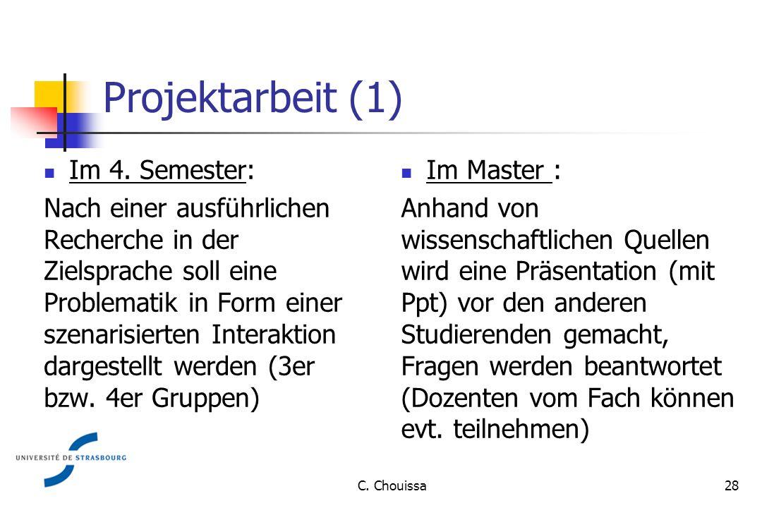 Projektarbeit (1) Im 4.