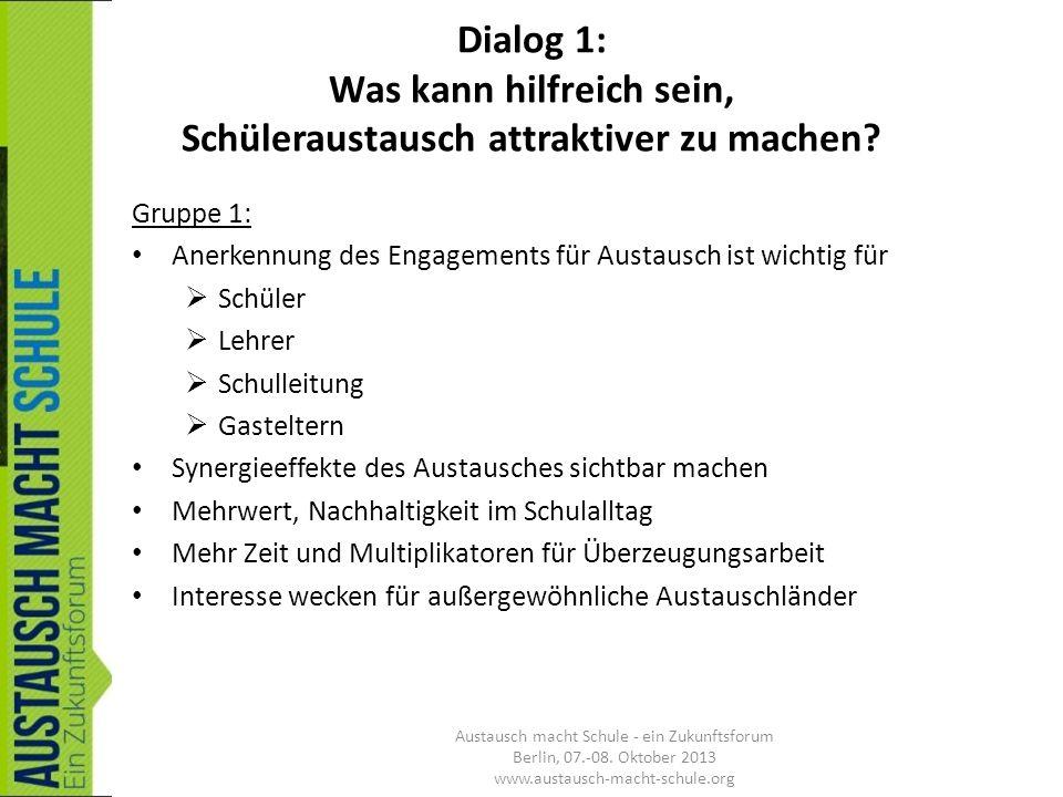 Dialog 3: Redaktion, Remix + weitere Anregungen Gruppe Kluges Umfeld für den Austausch: mögliches Modell für niederschwellige Beratungsangebote wären z.B.