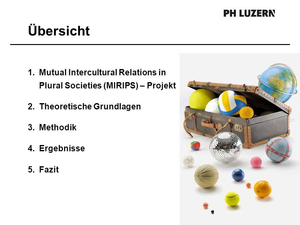 1.Mutual Intercultural Relations in Plural Societies (MIRIPS) – Projekt 2.Theoretische Grundlagen 3.Methodik 4.Ergebnisse 5.Fazit Übersicht