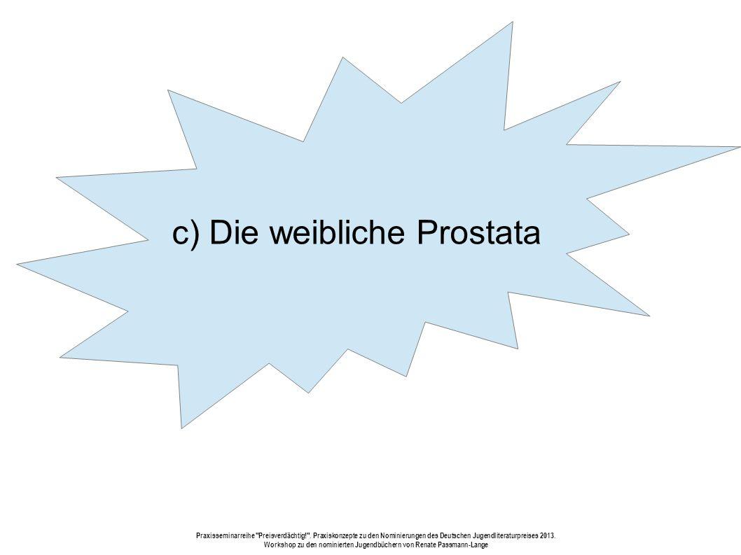 c) Die weibliche Prostata Praxisseminarreihe Preisverdächtig! .
