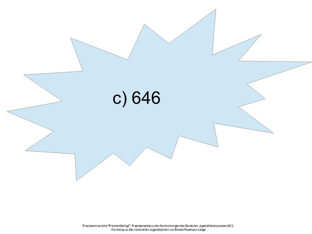 c) 646 Praxisseminarreihe Preisverdächtig! .