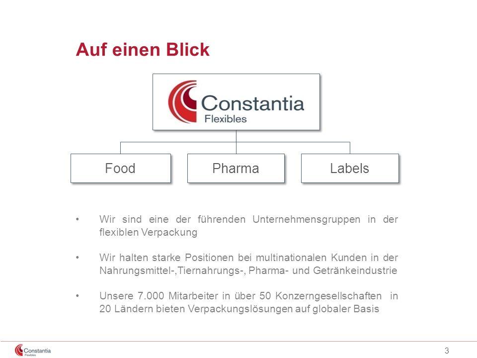 3 Auf einen Blick Food Pharma Labels Wir sind eine der führenden Unternehmensgruppen in der flexiblen Verpackung Wir halten starke Positionen bei mult
