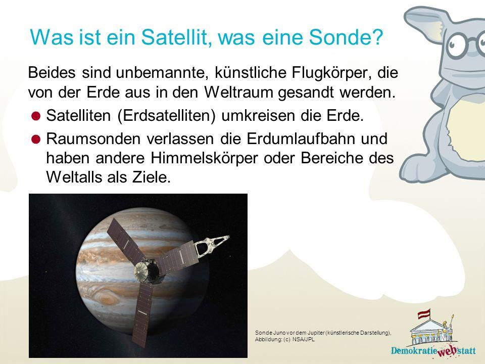 Was ist ein Satellit, was eine Sonde.
