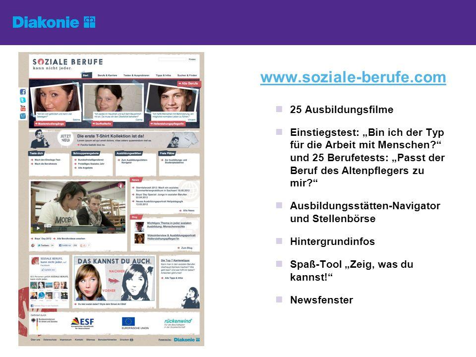 Blog http://blog.soziale- berufe.com http://blog.soziale- berufe.com Mehrmals wöchentlich neue Erfahrungsberichte aus dem Azubi- und FSJ- Alltag Magazin-Reportagen aus der Redaktion: z.B.