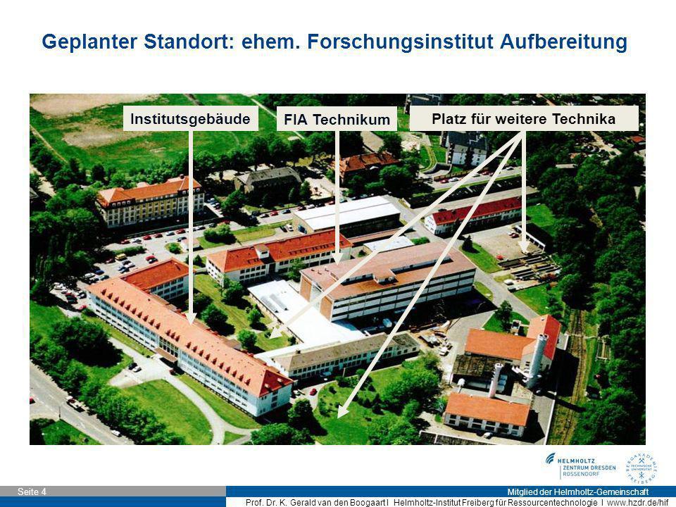 Mitglied der Helmholtz-Gemeinschaft Seite 4 Prof. Dr. K. Gerald van den Boogaart I Helmholtz-Institut Freiberg für Ressourcentechnologie I www.hzdr.de