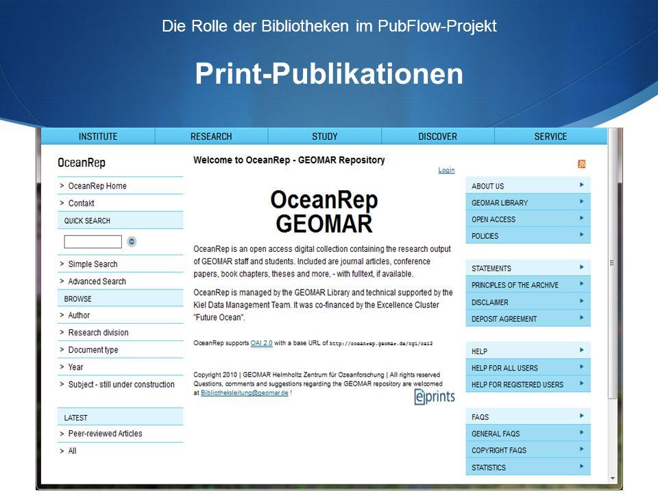 Wie bekommen wir die Informationen über eine erfolgte Publikation.