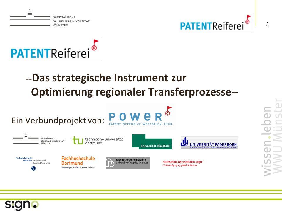 Susanne Föhse 2 Titel der Präsentation -- Das strategische Instrument zur Optimierung regionaler Transferprozesse-- Ein Verbundprojekt von: