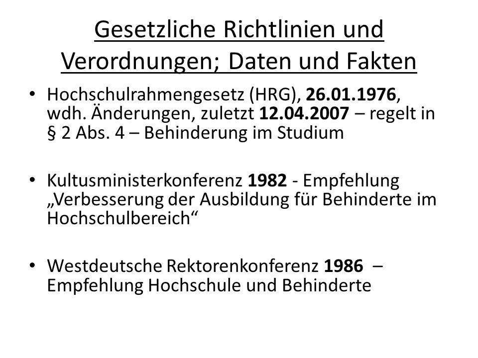 Gesetzliche Richtlinien und Verordnungen; Daten und Fakten 18.