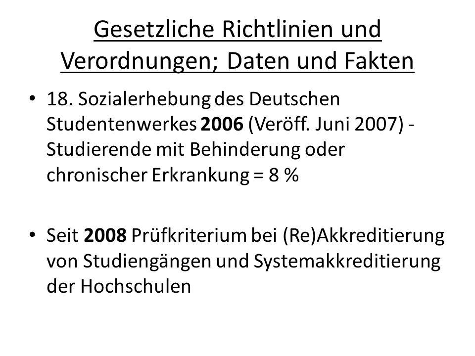 Gesetzliche Richtlinien und Verordnungen; Daten und Fakten EFH-RWL in Bochum-Projekt: Auf dem Weg zu einer barrierefreien Evangelischen Fachhochschule Rheinland- Westfalen-Lippe Projektlaufzeit Februar 2008 bis April 2009, Umsetzungsmaßnahmenkatalog: Seit 2009 laufende Maßnahmen