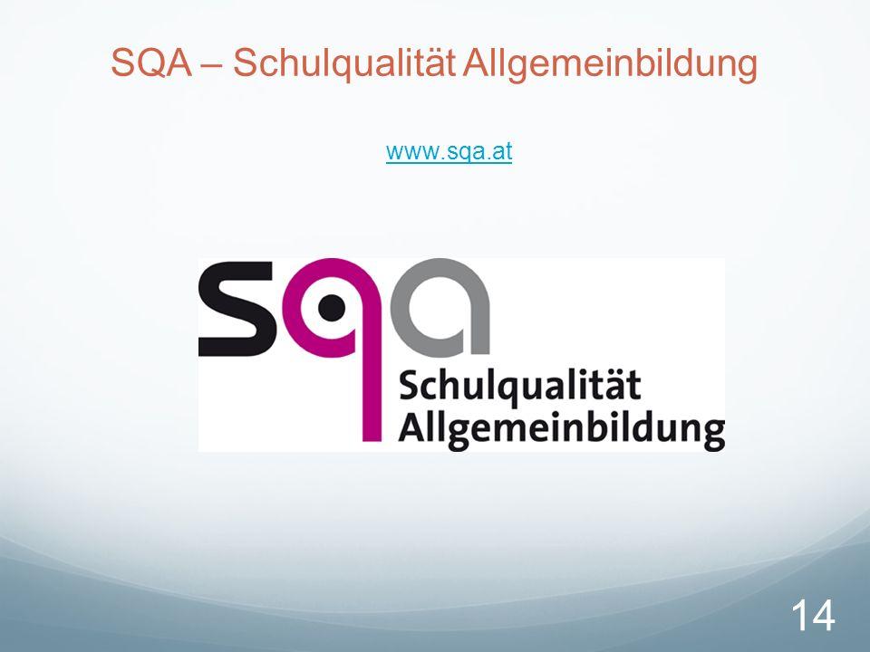 SQA – Schulqualität Allgemeinbildung www.sqa.at 14
