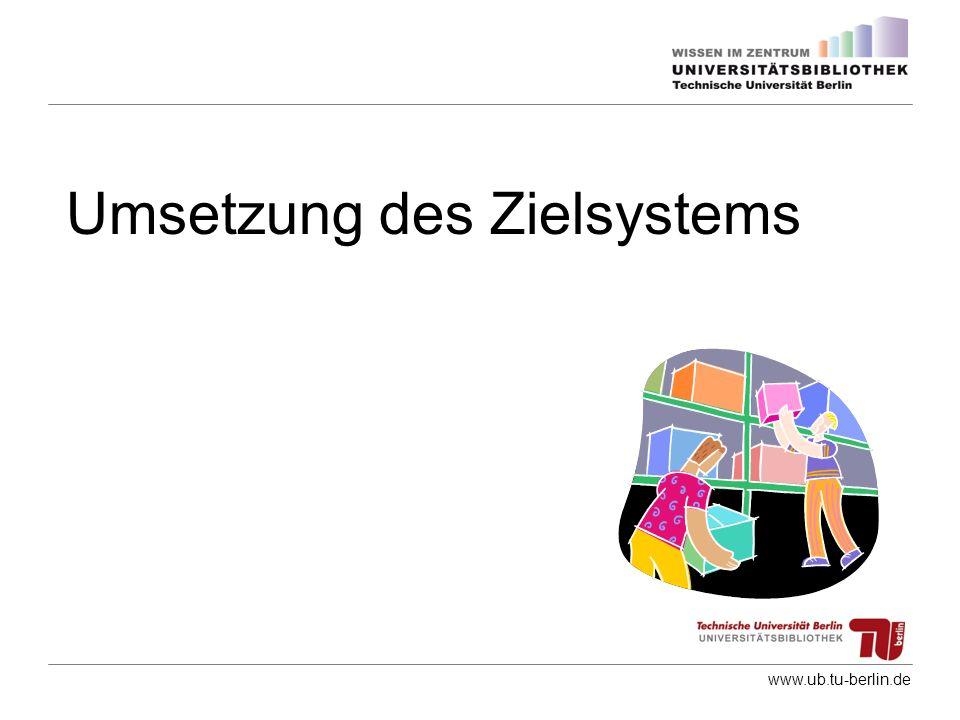 www.ub.tu-berlin.de Umsetzung des Zielsystems