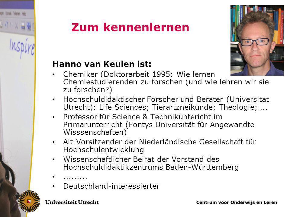 Gute Hochschuldidaktik muss fachu ̈ bergreifende und fachspezifische Aspekte der Lehre beru ̈ cksichtigen Hanno van Keulen Universität Utrecht, die Ni