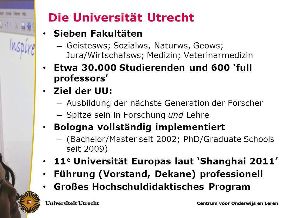 Rahmenbedingungen für fachspezifische Hochschuldidaktik Gutes Niveau generelle hochschuldidaktische Kompetenze – Standarde – Unterstützung (Hochschuld