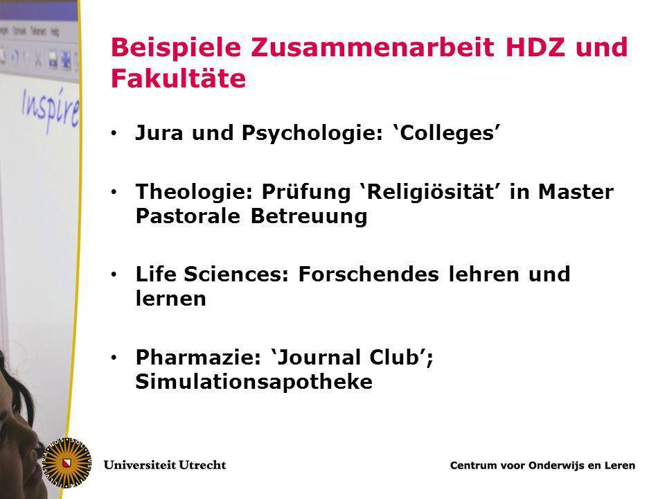 Hochschuldidaktische Daten UU HD gibt es in Utrecht seit 1967 HD-Abteilung ist teil eines größeren Institut für Lehrerausbildung, Beratung und Forschu