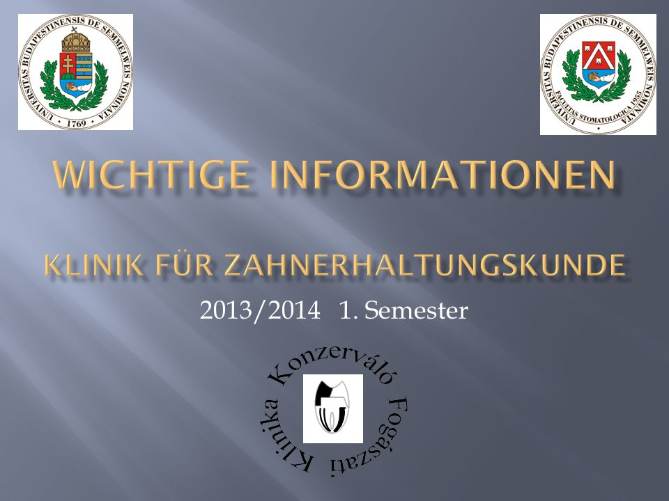 2013/2014 1. Semester