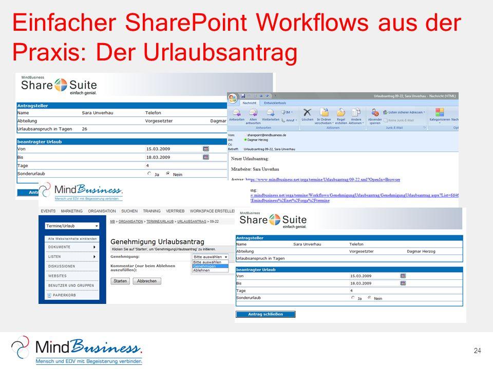 Einfacher SharePoint Workflows aus der Praxis: Der Urlaubsantrag 24