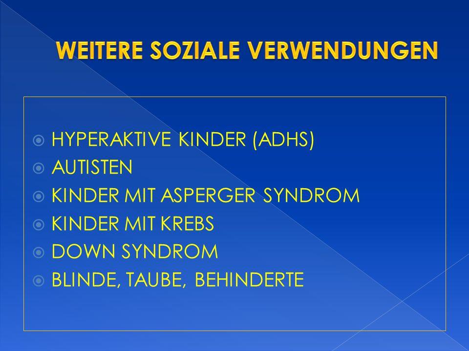 HYPERAKTIVE KINDER (ADHS) AUTISTEN KINDER MIT ASPERGER SYNDROM KINDER MIT KREBS DOWN SYNDROM BLINDE, TAUBE, BEHINDERTE