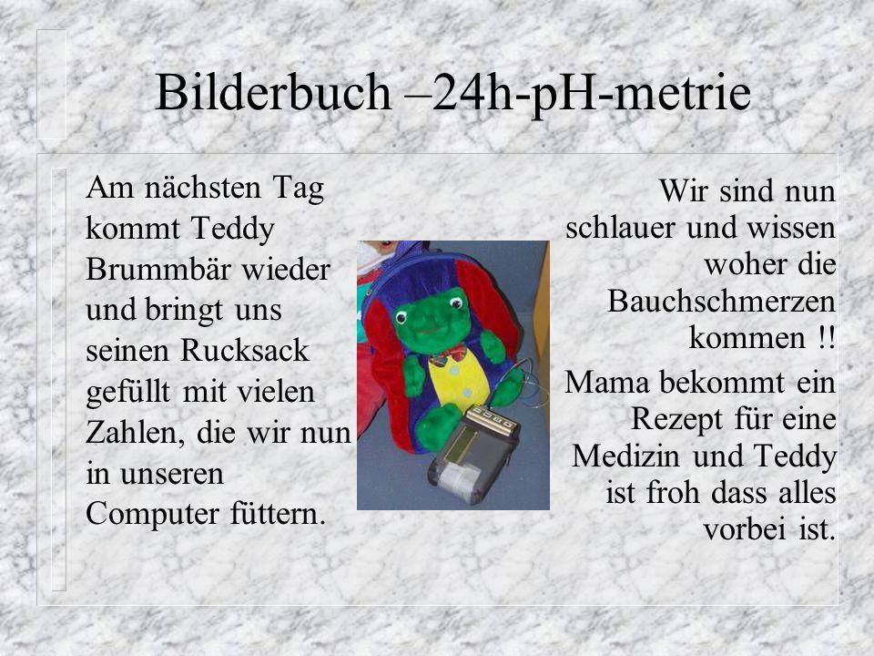 Am nächsten Tag kommt Teddy Brummbär wieder und bringt uns seinen Rucksack gefüllt mit vielen Zahlen, die wir nun in unseren Computer füttern. Wir sin