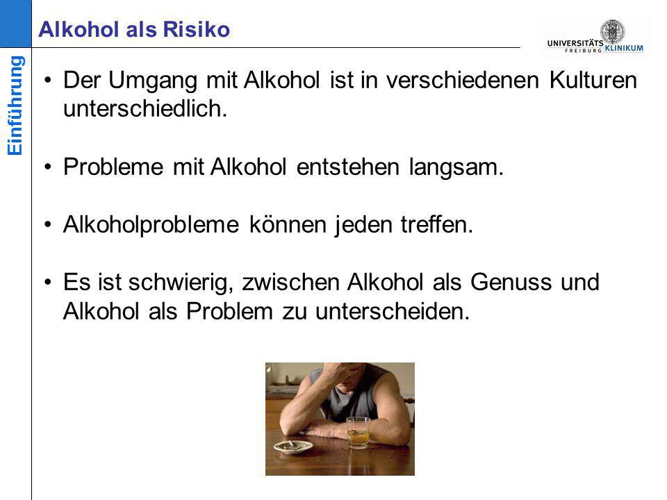 Mögliche Risiken von Alkoholkonsum kennen lernen Motivieren, über den eigenen Alkoholkonsum nachzudenken Ziele der Veranstaltung Einführung