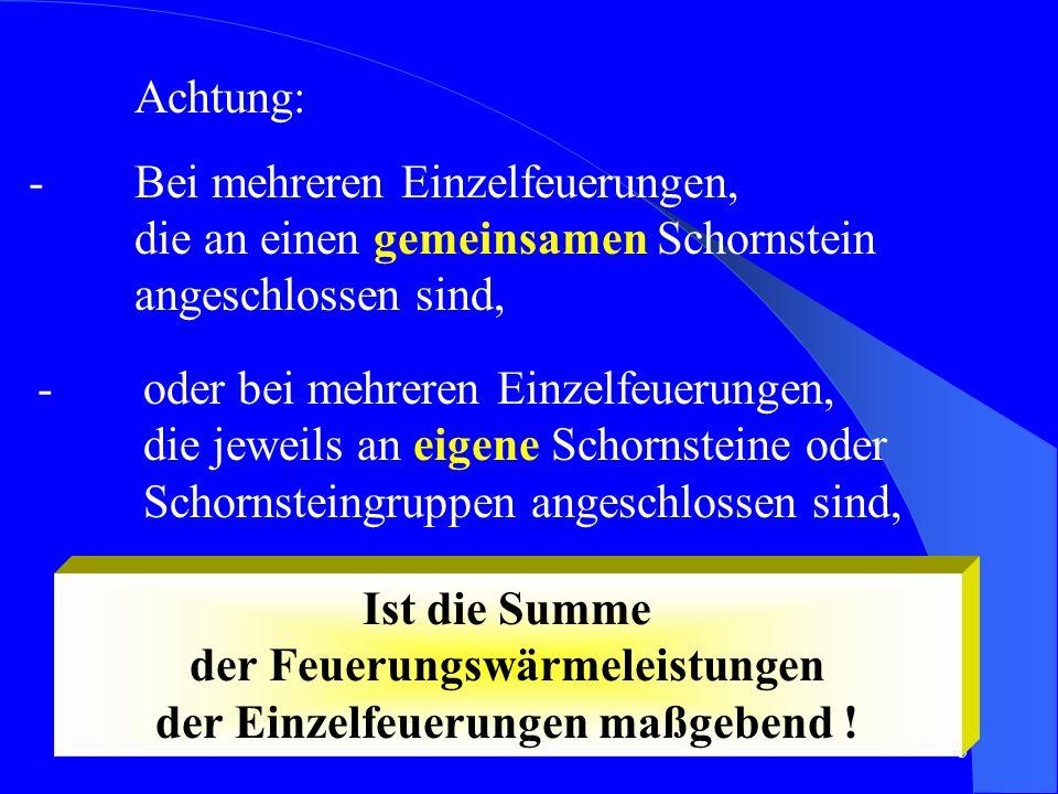 6 Maßnahmen zum Immissionsschutz Schornsteinausführung Schornsteinanordnung Schornsteinhöhe