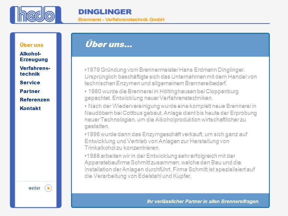 Über uns... 1979 Gründung vom Brennermeister Hans Erdmann Dinglinger. Ursprünglich beschäftigte sich das Unternehmen mit dem Handel von technischen En