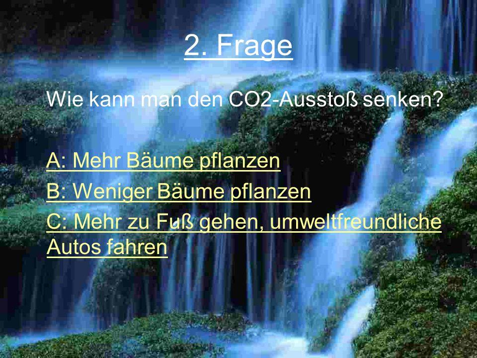2.Frage Wie kann man den CO2-Ausstoß senken.
