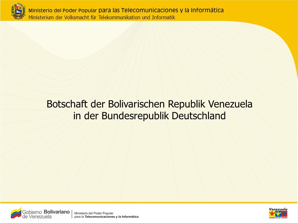 Botschaft der Bolivarischen Republik Venezuela in der Bundesrepublik Deutschland