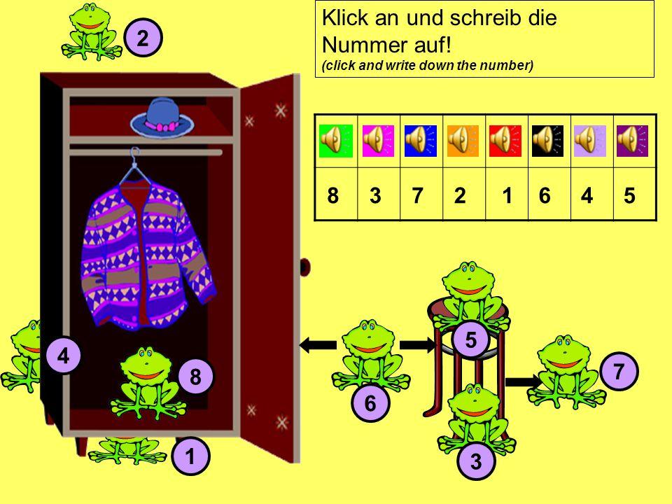 1 2 3 4 5 6 7 8 83721645 Klick an und schreib die Nummer auf! (click and write down the number)