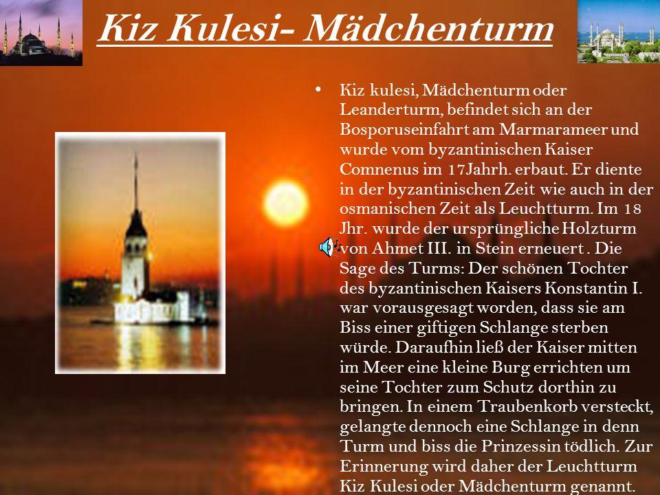 Der Galata-Turm Der Galata-Turm wurde 1348 von Kaufleuten erbaut und diente als Wachturm. Um einen groben Überblick über Istanbul zu bekommen, kann ma