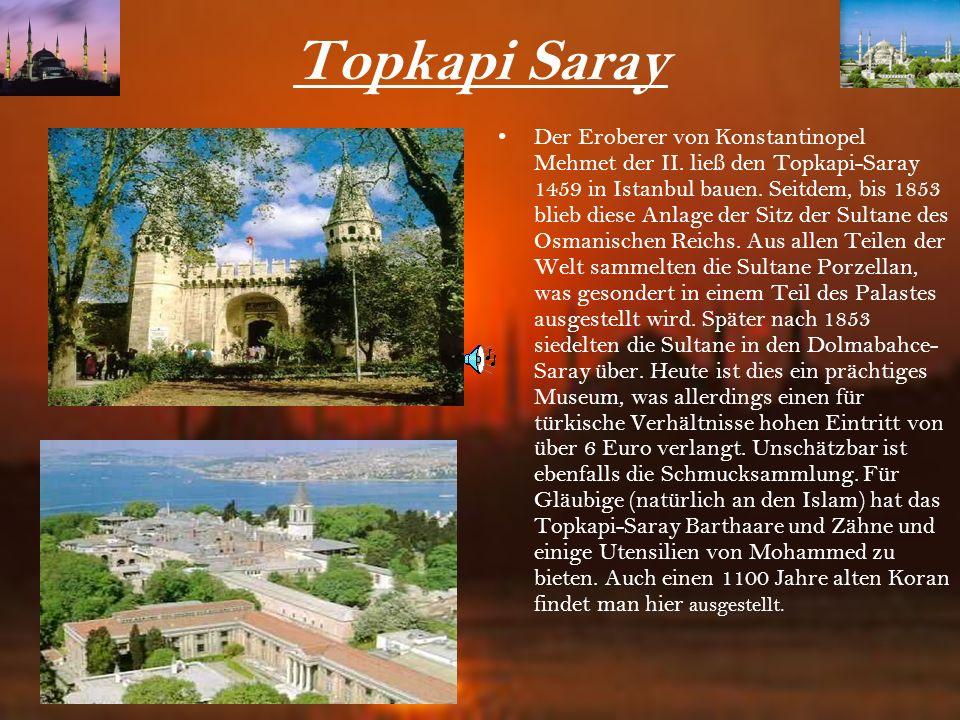Hagia Sofia Eine der schönsten Sehenswürdigkeiten Istanbuls ist die Hagia Sofia ( Kirche zur göttlichen Weisheit). Die Hagia Sofia (Aya Sofia) zählt z
