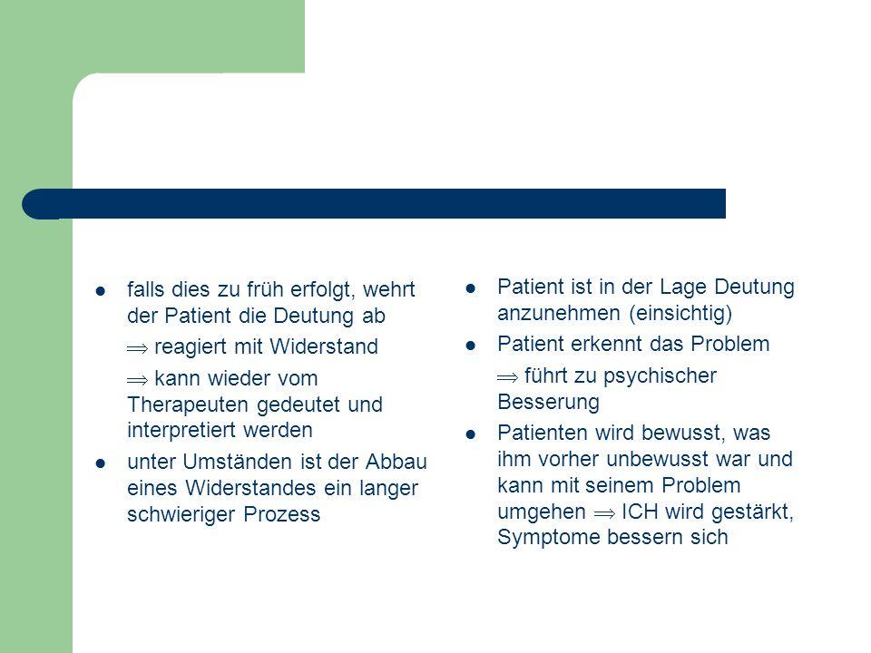 Therapeut fordert den Patienten frei zu assoziieren der Patient soll sagen was im z.B. zu den Personen oder Ereignisse etc. im Traum einfallen Materie