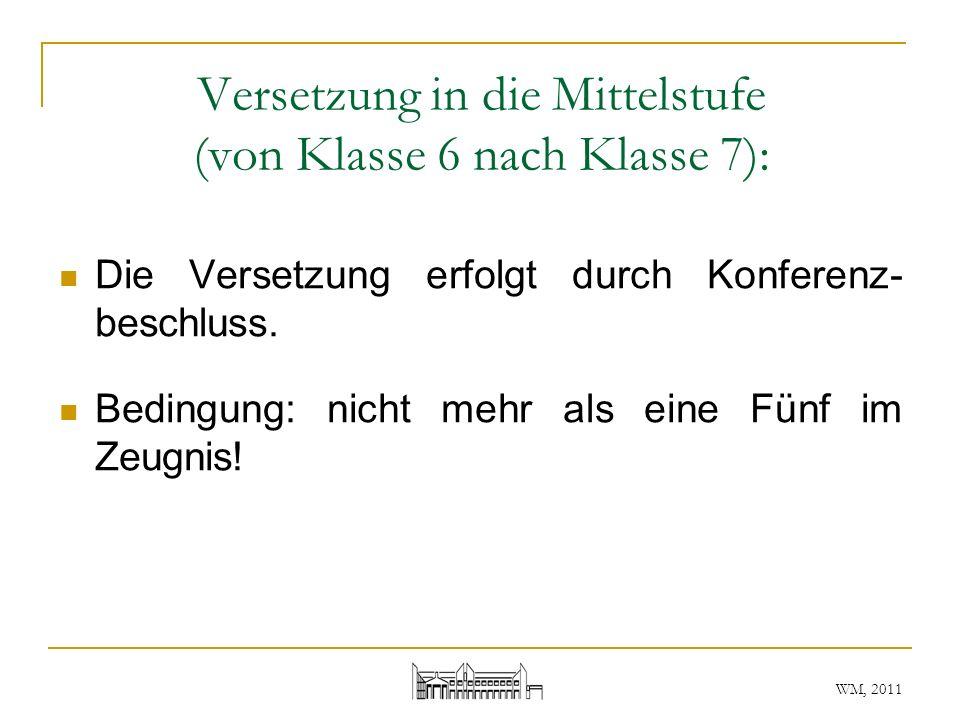 WM, 2011 Quellen: www.schooloffice-sh.de/texte/g/gymnasiumsordnung2011.htm www.schleswig-holstein.de/Bildung/DE/Schulen/ SchulrechtSchulgesetz/Verordnungen/Downloads/SavoGymJuli2011.html www.schleswig-holstein.de/Bildung/DE/Schulen/ Vielen Dank für die Aufmerksamkeit!