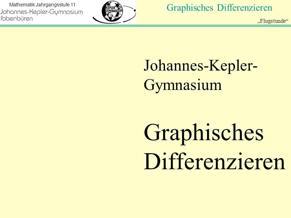 Koordinatengeometrie Mathematik Jahrgangsstufe 11 Flugstunde Graphisches Differenzieren Johannes-Kepler- Gymnasium Graphisches Differenzieren
