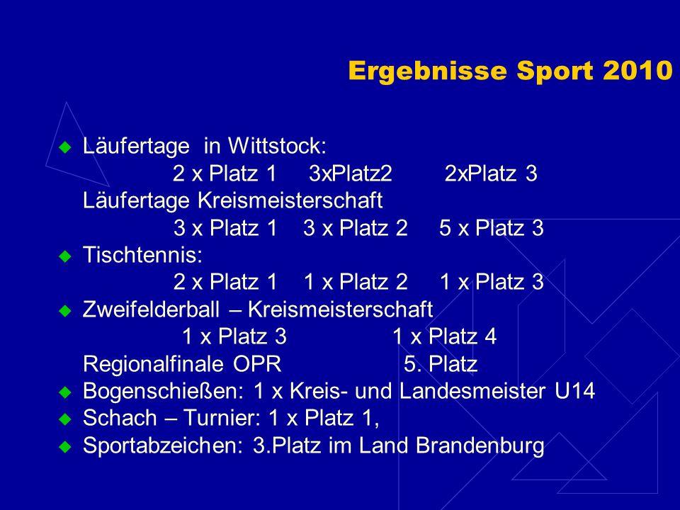 Schwerpunkt Sport Durchführung von Schulwettbewerben: Schulsportfest Herbst – Crosslauf Adventsturnier Handball Zweifelderball – Schulwettbewerb Tisch