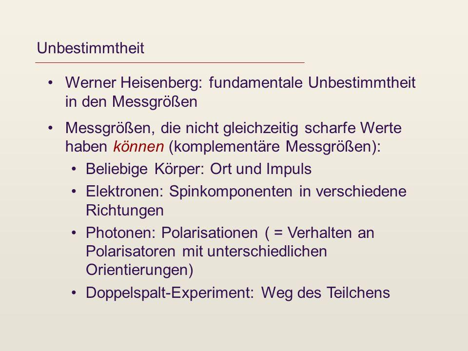 EPR-Paradoxon und Bellsche Ungleichung Albert Einstein, Boris Podolsky und Nathan Rosen: Ist die Quantentheorie unvollständig.