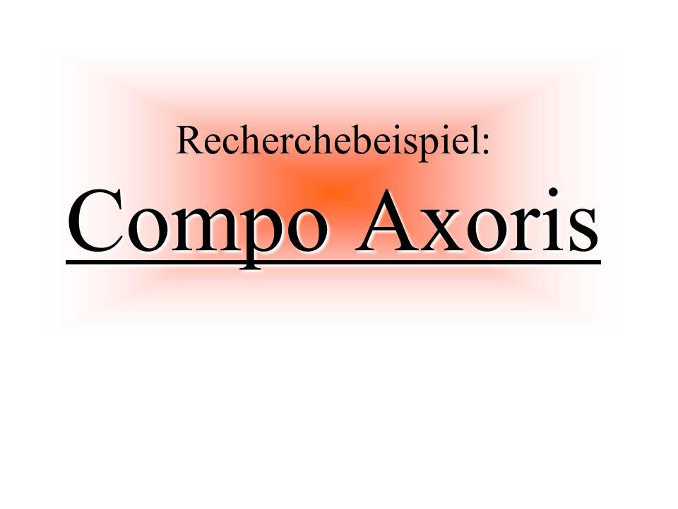 Compo Axoris Recherchebeispiel: Compo Axoris