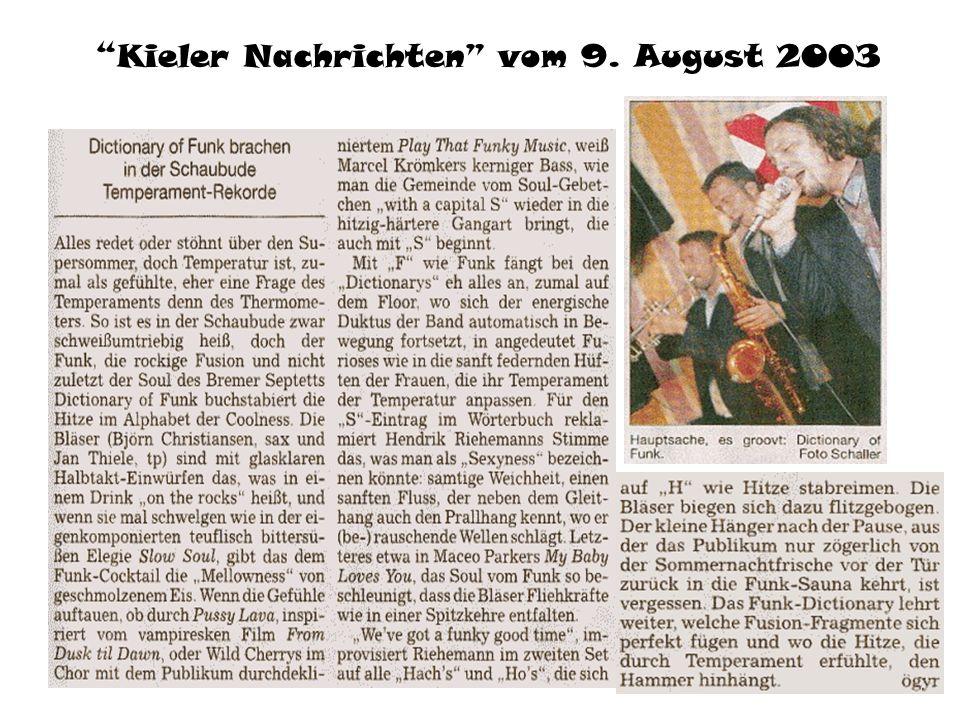 Nordseezeitung vom 29. März 2004