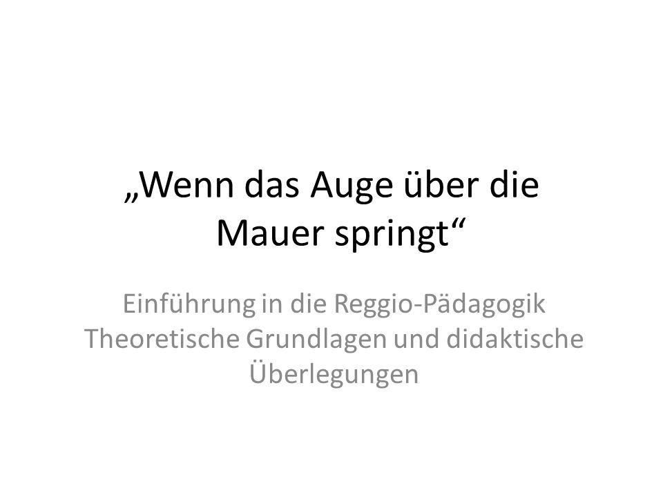 Reggio – (k)ein Modell?.Reggio ist Reggio und kann nicht woanders eingepflanzt werden.