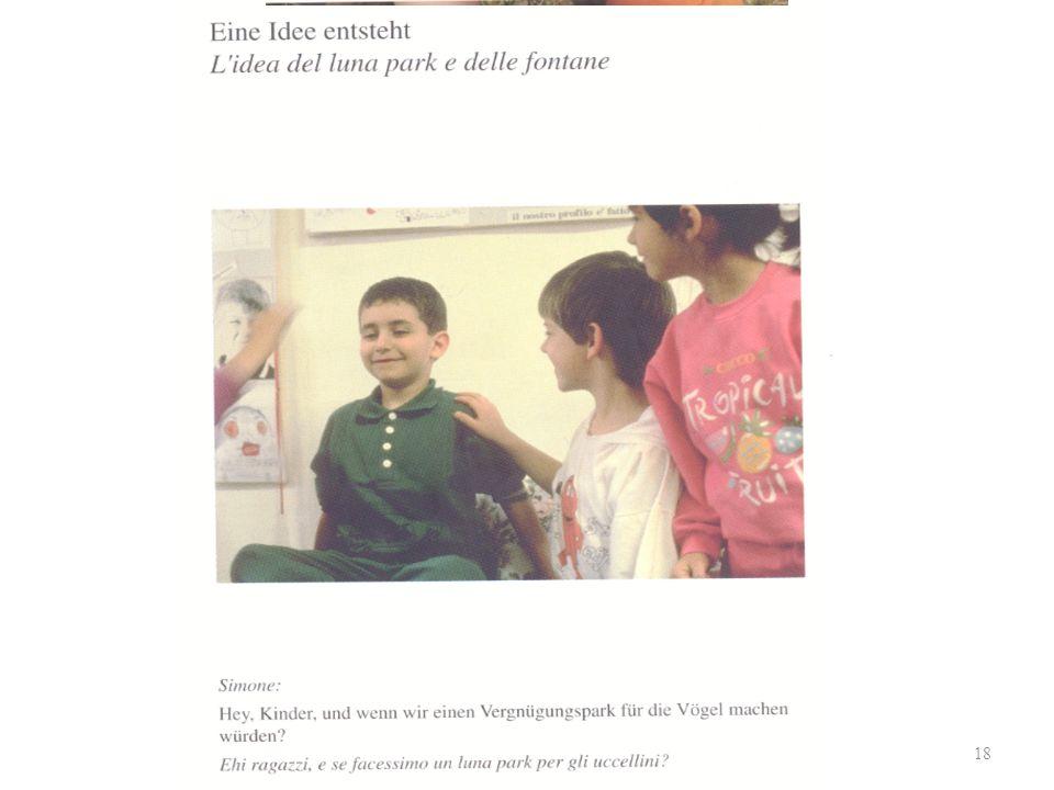 PädagogikleherInnentag 2009 Einführung in die Reggio-Pädagogik 18