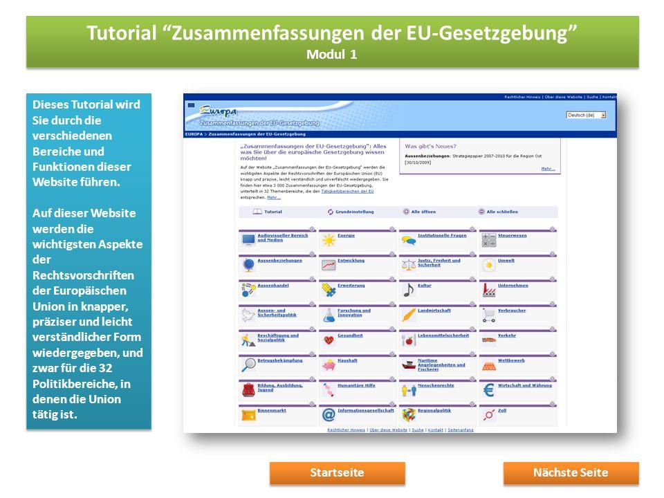 Dieses Tutorial wird Sie durch die verschiedenen Bereiche und Funktionen dieser Website führen.