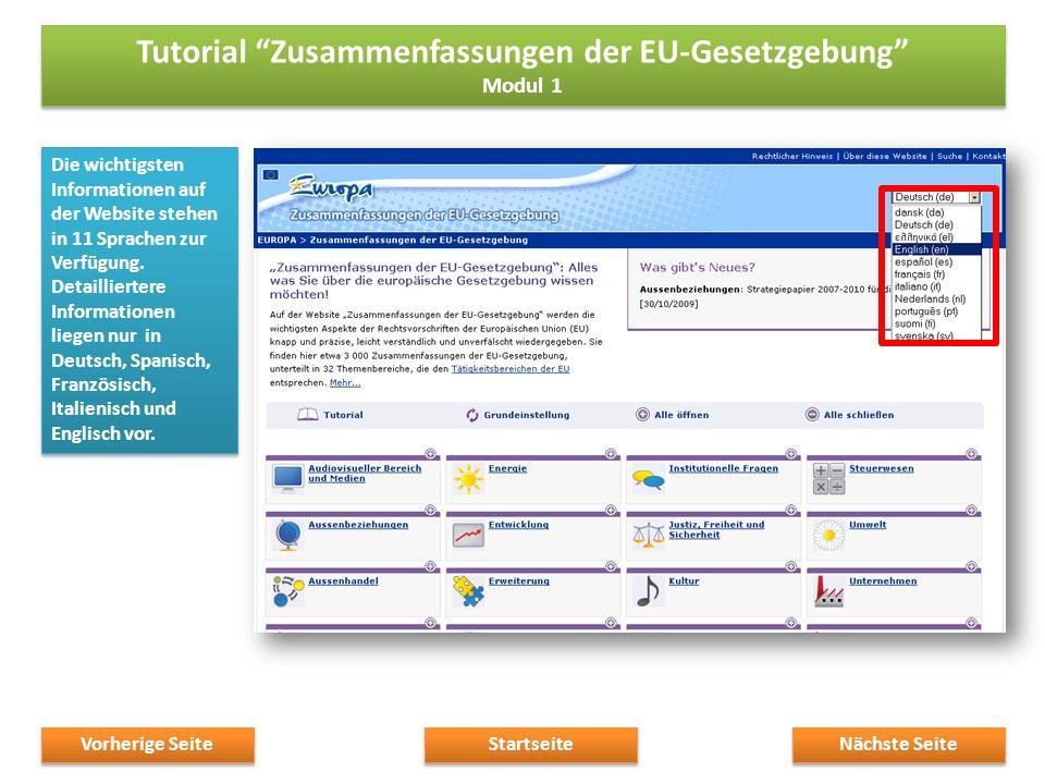 Die wichtigsten Informationen auf der Website stehen in 11 Sprachen zur Verfügung.