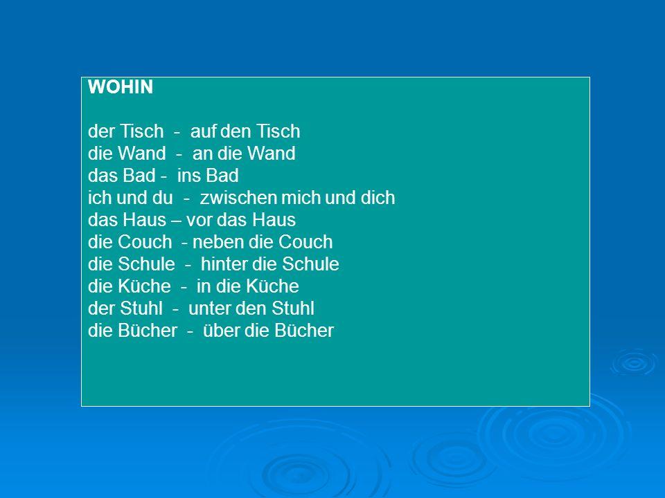 Rozlišujte předložky a příslovce místa Das Auto ist hinter dem Haus.