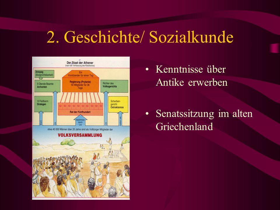 2. Geschichte/ Sozialkunde Kenntnisse über Antike erwerben Senatssitzung im alten Griechenland