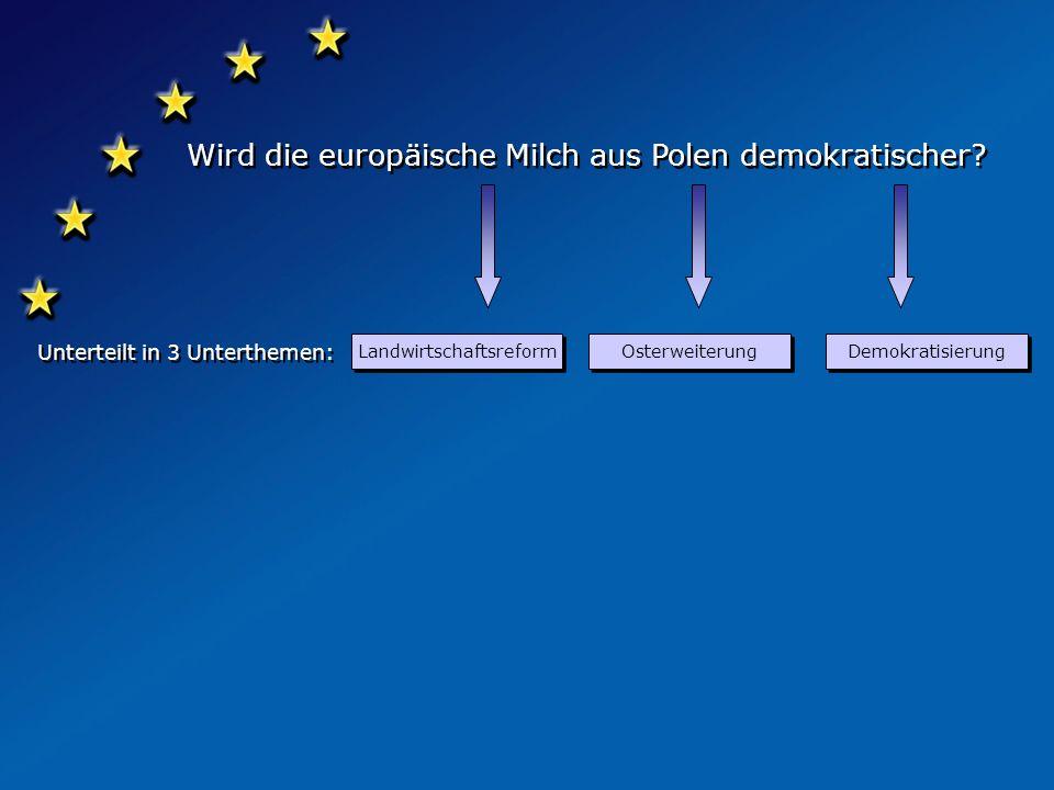 Scheffel-Gymnasium Lahr präsentiert: präsentiert: Wird die europäische Milch aus Polen demokratischer? Wird die europäische Milch aus Polen demokratis