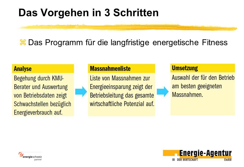 Das Vorgehen in 3 Schritten zDas Programm für die langfristige energetische Fitness