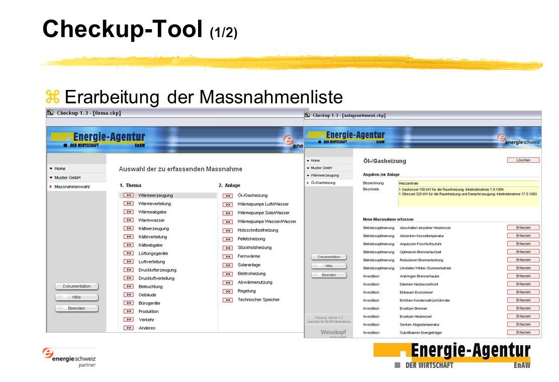 Checkup-Tool (1/2) zErarbeitung der Massnahmenliste