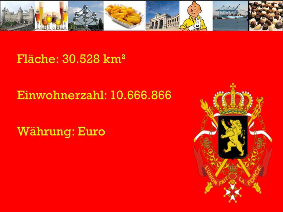 Fläche: 30.528 km² Einwohnerzahl: 10.666.866 Währung: Euro
