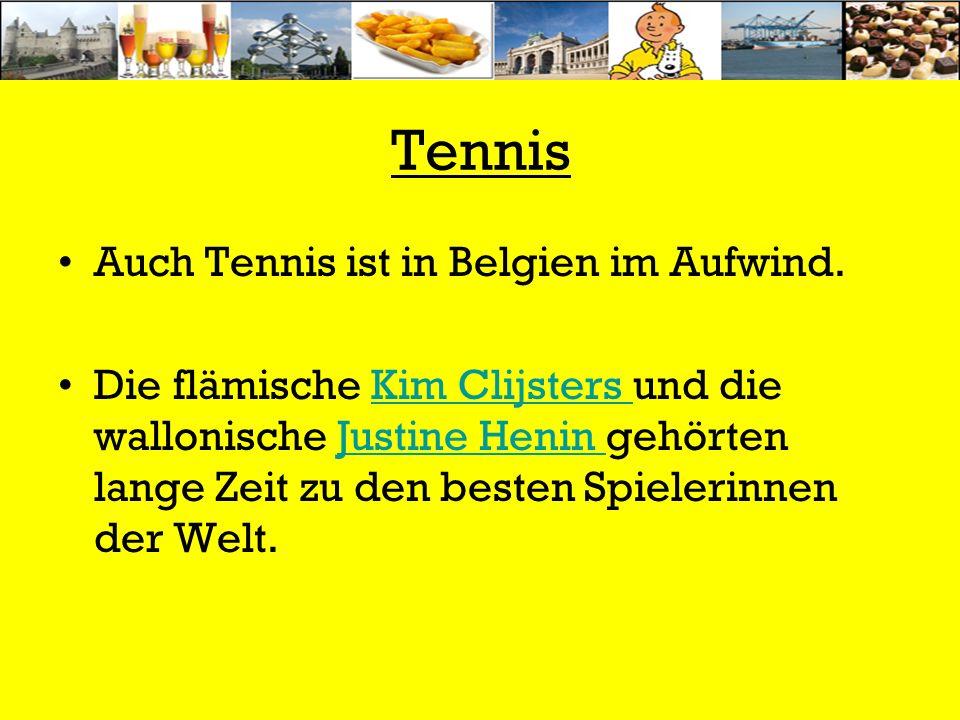 Tennis Auch Tennis ist in Belgien im Aufwind. Die flämische Kim Clijsters und die wallonische Justine Henin gehörten lange Zeit zu den besten Spieleri